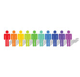 Diversity. Business concept of colorful diversity Royalty Free Stock Photography