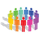 Diversity. Business concept of diversity in people Stock Image
