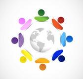 diversity around the globe. illustration Stock Image