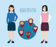 Diversity around the world stock illustration