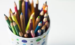 Diversity. Bunch of clouded crayons together Royalty Free Stock Photography