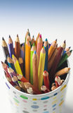 Diversity. Bunch of clouded crayons together Stock Photos