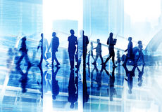 Diversity Business People Coorperate Rush Hour Concept.  Stock Images
