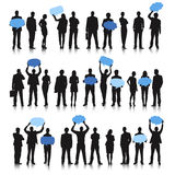 Diversity Business People Holding Empty Speech Bubble Concept Royalty Free Stock Image
