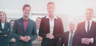Group of successful business people looking confident. Diversity Business people Meeting Team Coorporate Concept Royalty Free Stock Photo