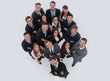 Portrait of smiling business people against white background Royalty Free Stock Photography