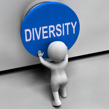 Diversity Button Means Variety Difference Stock Images