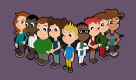 Diversity - cartoon kids collection Royalty Free Stock Photos