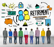 Diversity Casual People Retirement Vision Aspiration Concept Stock Images