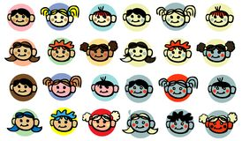 Diversity Child, baby, kids face Royalty Free Stock Photo