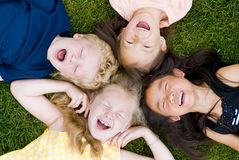 Diversity in childhood. A group of diverse young kids playing Stock Photos