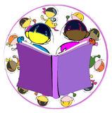 Diversity: Book and Children for School Education, Cartoon Stock Images