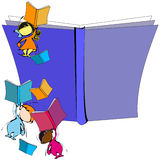Diversity: Children and Book for School Education Cartoon Stock Photos