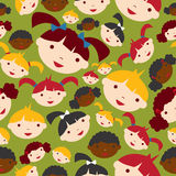 Diversity children faces pattern Stock Photo