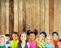 Diversity Children Friendship Innocence Smiling Concept.  Royalty Free Stock Photo