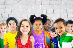 Diversity Children Friendship Innocence Smiling Concept Royalty Free Stock Image