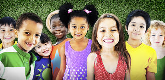 Diversity Children Friendship Innocence Smiling Concept.  Stock Photography