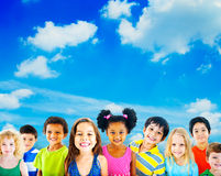 Diversity Children Friendship Innocence Smiling Concept Royalty Free Stock Photos