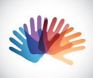 Diversity color hands illustration Stock Images