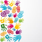 Diversity colors human hand Stock Photography