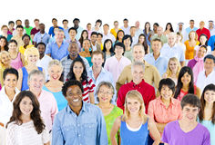 Diversity Community Celebrate Cheering Crowd Concept.  royalty free stock photos