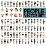 Diversity Community People Flat Design Icons Concept Stock Photography
