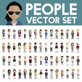 Diversity Community People Flat Design Icons Concept Royalty Free Stock Photography