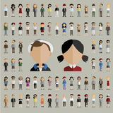 Diversity Community People Flat Design Icons Concept Stock Images