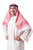 Diversity concept. With arab on white Royalty Free Stock Photo