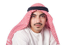 Diversity concept with arab. On white Stock Photography