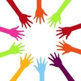 Diversity concept design, teamwork hands royalty free illustration
