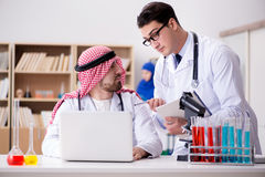 The diversity concept with doctors in hospital. Diversity concept with doctors in hospital Royalty Free Stock Photos