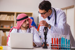 The diversity concept with doctors in hospital Royalty Free Stock Images