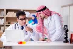 The diversity concept with doctors in hospital Stock Images