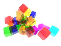 Diversity Cubes Royalty Free Stock Image