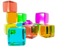 Diversity Cubes Royalty Free Stock Images