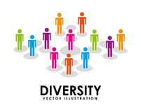 Diversity design Royalty Free Stock Image