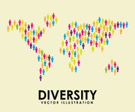 Diversity design Royalty Free Stock Photography