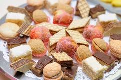 Diversity of dessert pastry closeup Stock Photography