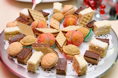 Diversity of dessert pastry Stock Images