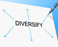 Diversity Diversify Represents Mixed Bag And Multi-Cultural stock illustration