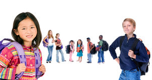 Diversity in Education 006. A group of diverse students ready for school Royalty Free Stock Images