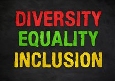 Diversity Equality Inclusion royalty free stock image