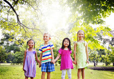 Diversity Friends Children Park Happiness Concept Stock Photo