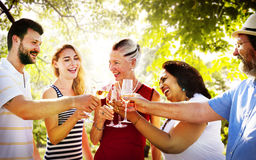 Diversity Friends Party Hanging out Cheers Concept Royalty Free Stock Images