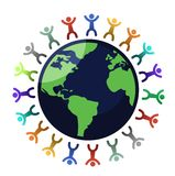 Diversity globe Stock Photography