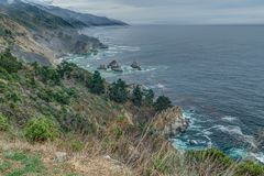 Diversity Graces the Coastal Landscape of California. From La Jolla to Carmel you will find this State`s display of Nature some of the most inspiring anywhere in Royalty Free Stock Images