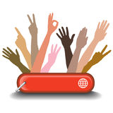 Diversity Graphic Showing Working Together Royalty Free Stock Photos