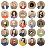 Diversity Group Technology Music Media Collection Concept Royalty Free Stock Images