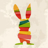 Diversity grunge Easter bunny Stock Photo